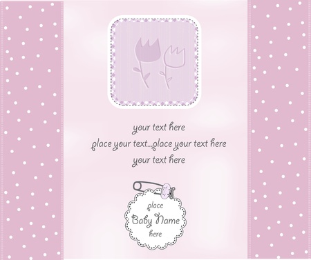 baby girl shower card Stock Vector - 12670149
