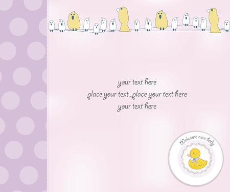 new baby girl shower card Stock Vector - 12599208