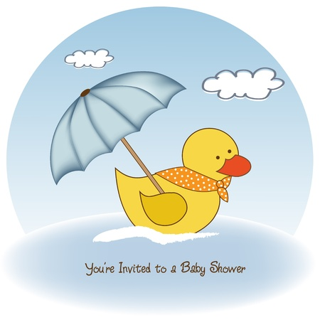 new baby boy shower card Stock Vector - 12599196