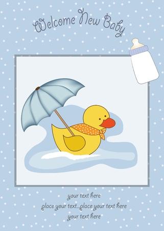 new baby boy shower card Stock Vector - 12599244