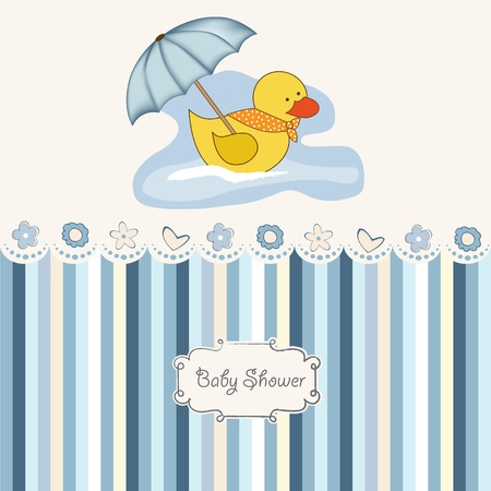 baptism background: new baby boy shower card Illustration