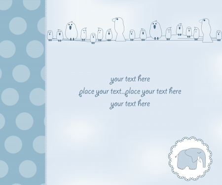 new baby boy shower card Stock Vector - 12599200