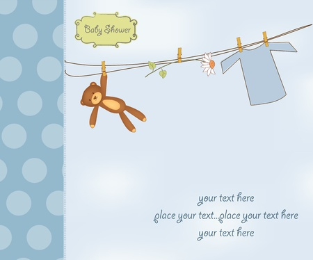 new baby boy shower card Stock Vector - 12669837
