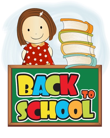 zaino scuola: indietro a scuola Vettoriali