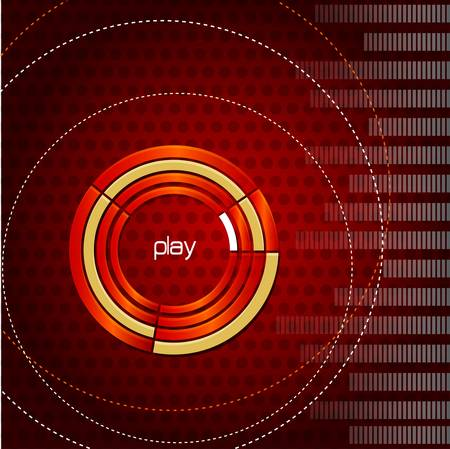 polychromatic: abstract music background Illustration