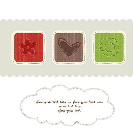 delicate floral greeting card Stock Vector - 12599241