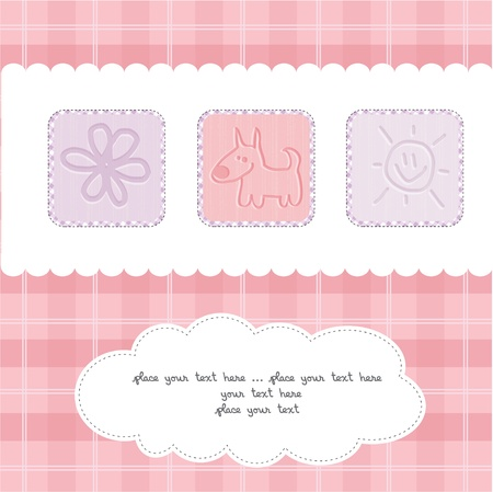 Sweet Welcome the New Baby Card Stock Vector - 12599235