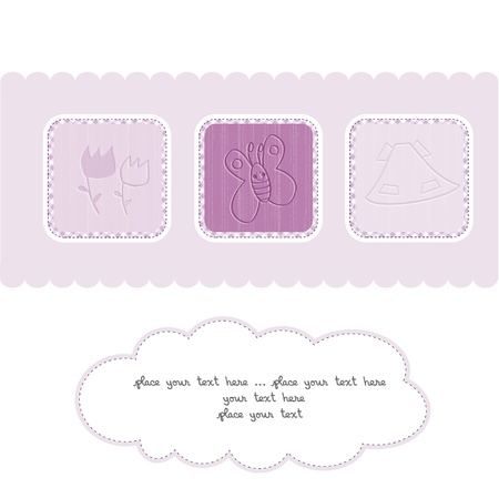 flower boxes: Sweet Welcome the New Baby Card