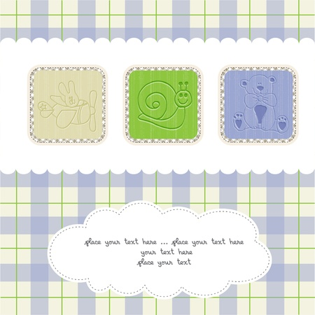 Sweet Welcome the New Baby Card Stock Vector - 12599238