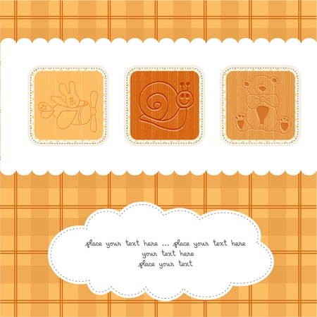 Sweet Welcome the New Baby Card Vector