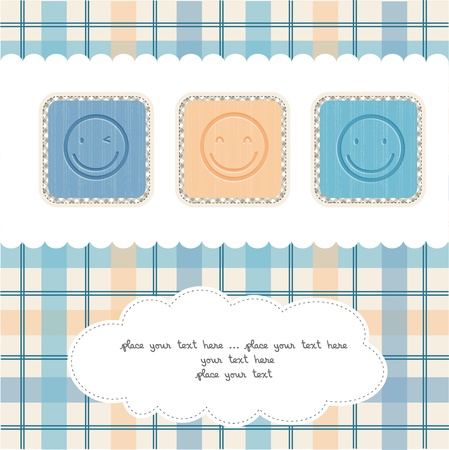 Happy faces greeting card Vector