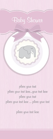 baby shower party: baby shower card Illustration