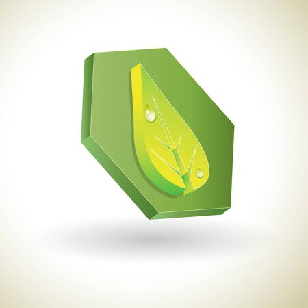logo nature:  3d abstract sign