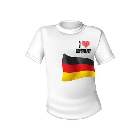 German t-shirt flag Stock Vector - 12599228