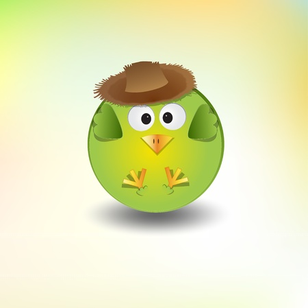 cute little boy bird Vector
