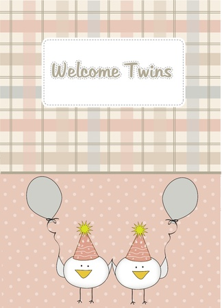 welcome twins Vector