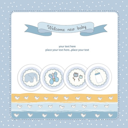 one boy: New baby announcement card