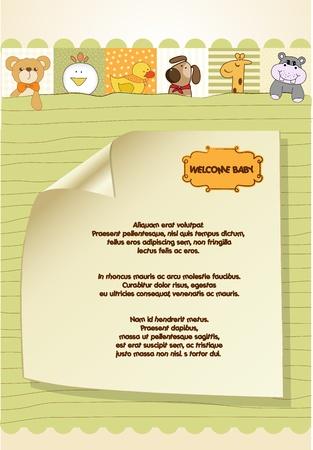 Baby shower announcement Stock Vector - 11022562