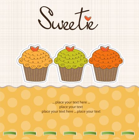 Happy Birthday cupcakes Stock Vector - 11022578