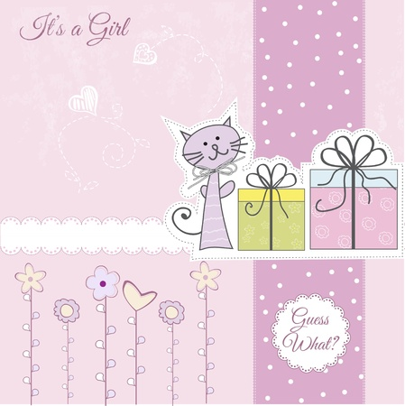 New baby announcement card Stock Vector - 11022605