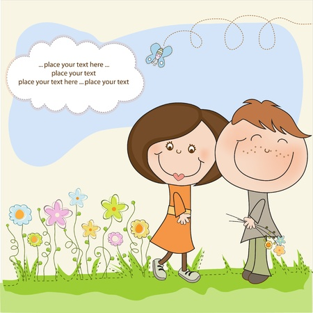 Happy lovers couple Stock Vector - 11021633