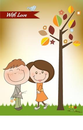 happy couple: Happy lovers couple