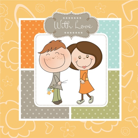Happy lovers couple Stock Vector - 11022219