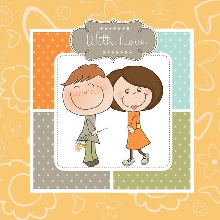 Happy lovers couple Stock Vector - 11022219