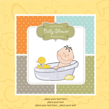 baby bath: new baby arrived Illustration