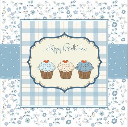 Happy birthday cupcakes Stock Vector - 11022688