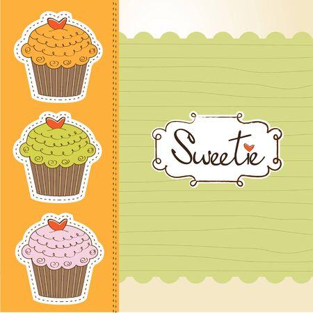 Happy birthday cupcakes Stock Vector - 11021014