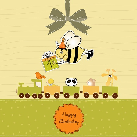 Birthday card with bee Stock Vector - 11022026