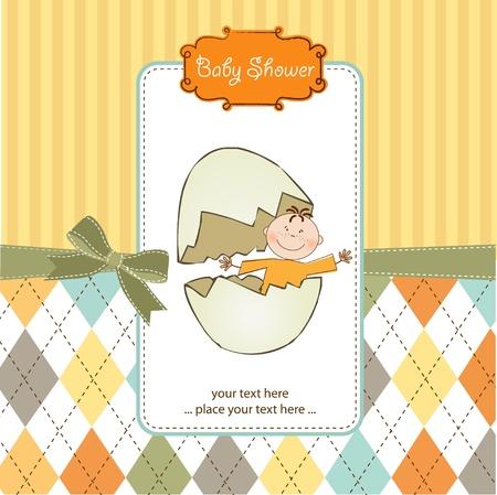 baby boy birth: new baby arrived Illustration