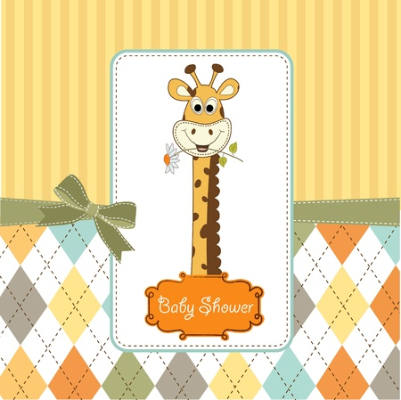 giraffe frame: welcome baby