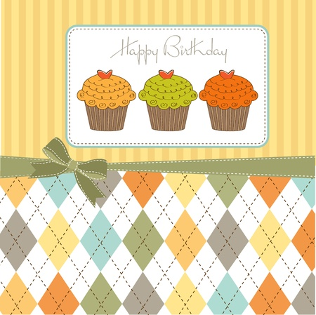 Happy Birthday cupcakes Stock Vector - 12466184