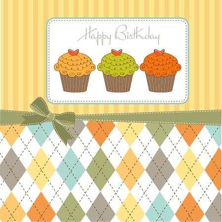 Happy Birthday cupcakes Stock Vector - 12466184