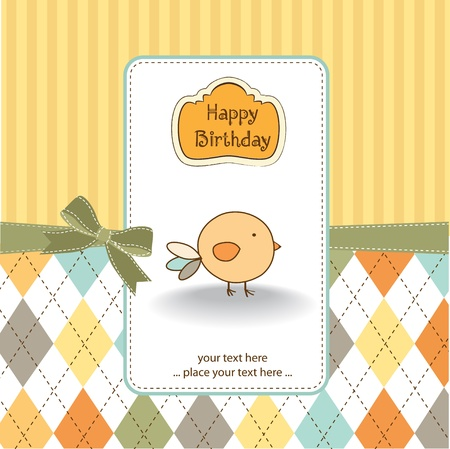 New baby announcement card Stock Vector - 11154250