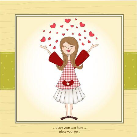 contentment: Pretty girl in love