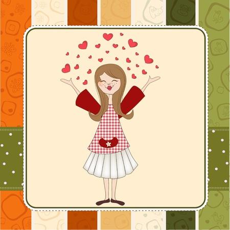 longing: Pretty girl in love