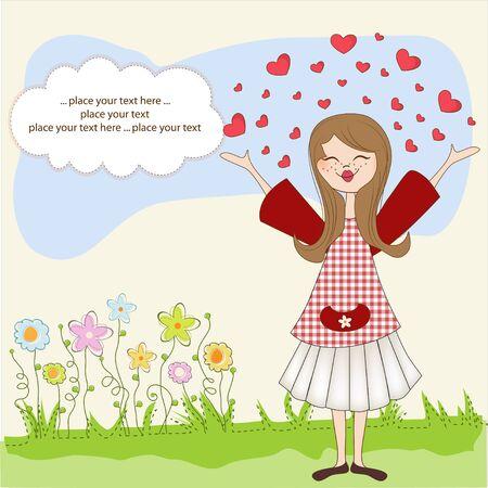 fantasize: Pretty girl in love