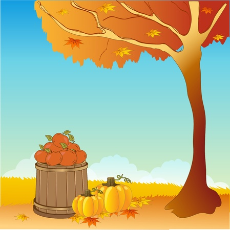 tranquil scene on urban scene: Autumn background