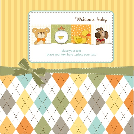 baby duck: new baby arrived Illustration