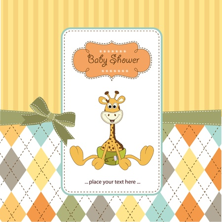 giraffe cartoon: welcome baby