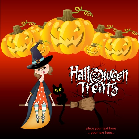 hat trick: Halloween strega sfondo