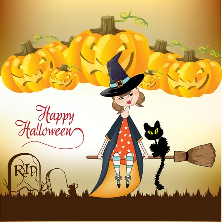 broomstick: Halloween witch background