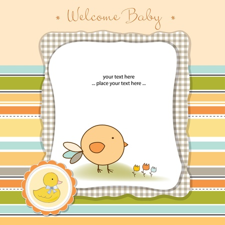 baby announcement card: welcome baby
