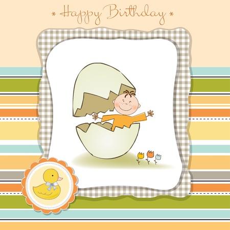 arrived: new baby arrived Illustration