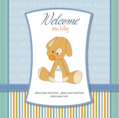 baby boy shower: welcome new baby boy Illustration