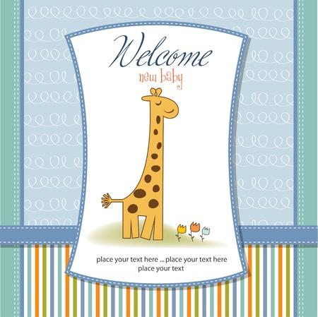 nuevo beb� anuncio de la tarjeta
