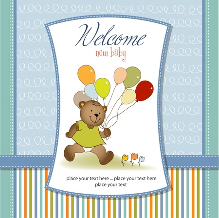 new baby shower card Vector